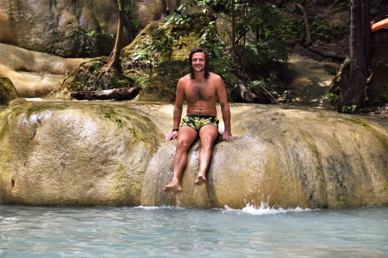 The highest pool of Erawan Waterfalls (Thailand) - totally worth the climb!